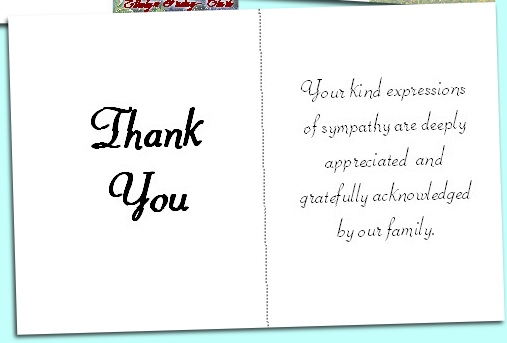 Funeral Thank You Cards Personalized  BesikEightyCo